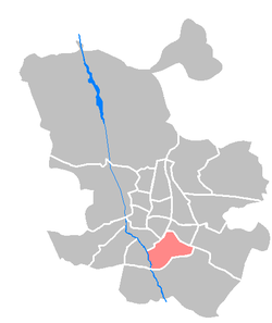 Location of Puente de Vallecas