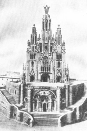 Temple Expiatori del Sagrat Cor - A model of the church