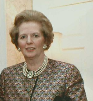 English: Margaret Thatcher photo cropped from ...