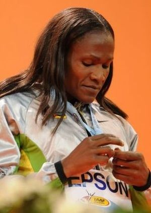 Maria Mutola - Mutola in 2008 at the World Indoor Championships in Valencia