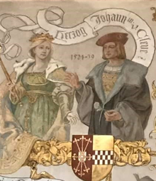 Maria of Julich-Berg and her husband, John III, Duke of Cleves.png