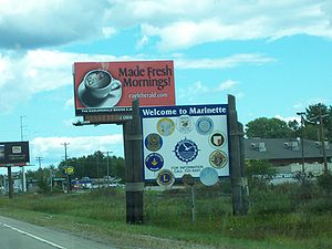 Marinette, Wisconsin - Welcome sign