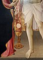 Mariotto di cristofano, cristo eucaristico tra la madonna e santa lucia, 1420-25 ca. 03.jpg