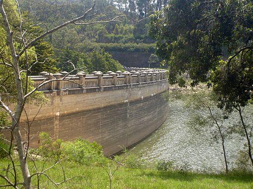 Maroondah Dam wall-Reservoir side