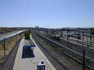 Marşandiz railway station - The station in 2013 before reconstruction. Marşandiz Yard is visible to the right.