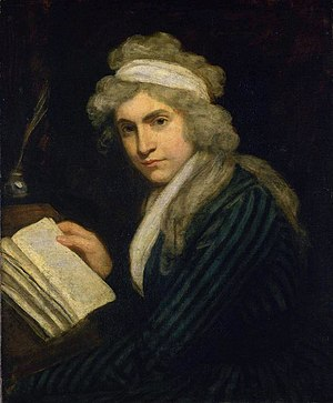 Analytical Review - Mary Wollstonecraft, by John Opie (c. 1791). Wollstonecraft was a friend of Joseph Johnson and one of the Analytical Reviews major editors.