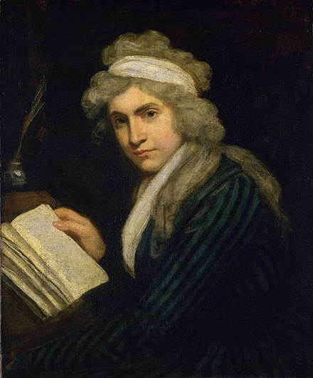 Mary Wollstonecraft in 1790-91, by John Opie MaryWollstonecraft.jpg
