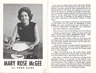 Mary Rose McGee - Mary Rose McGee Campaign Literature