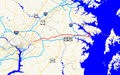 Maryland Route 450 map.png