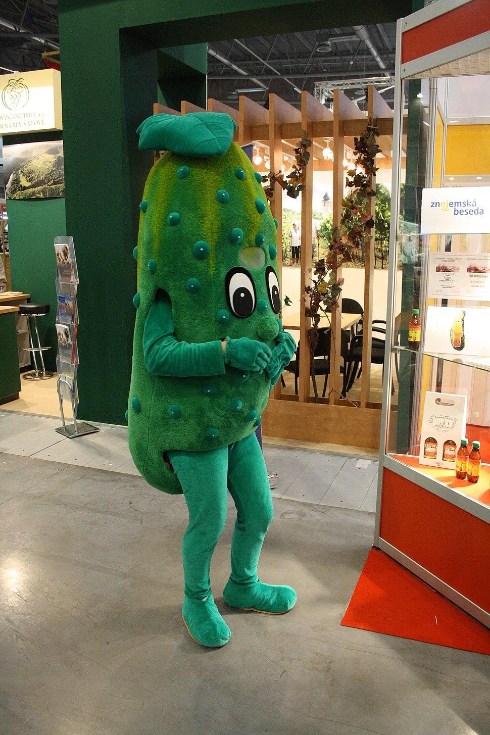 Mascot of Znojmo - cucumber at Regiontour 2010