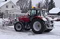 Massey Ferguson 7495 clearing snow in Nora, Orebro, Sweden.jpg