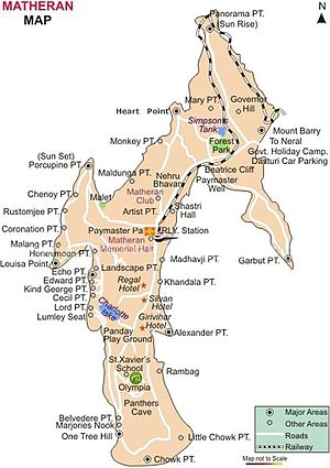 Matheran - Detailed map of Matheran