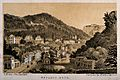 Matlock Bath, Derbyshire; panoramic view. Tinted lithograph Wellcome V0013943.jpg