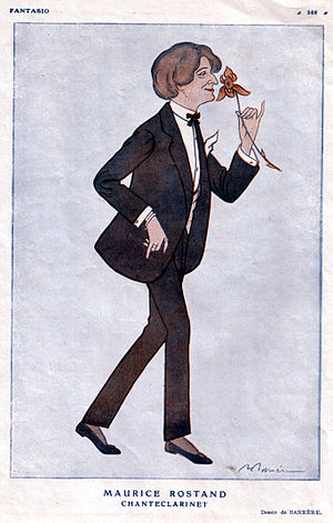 Maurice Rostand - Caricature of Rostand by Barrère