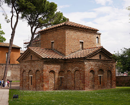 "The so-called ""Mausoleum of Galla Placidia"" in Ravenna. Mausoleum of Galla Placidia in Ravenna.JPG"