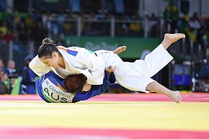 Judo at the 2016 Summer Olympics – Women's 78 kg - Mayra Aguiar (BRA) vs Miranda Giambelli (AUS)