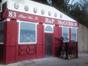 McGurk's Bar bombing - A mock-up of the original bar erected close to its original location, December 2011