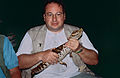 Me with a Smooth-fronted Caiman (Paleosuchus trigonatus) (10642134246).jpg
