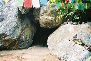 Rajgir - Buddha's cave, Griddhakuta Hill, Rajgir.
