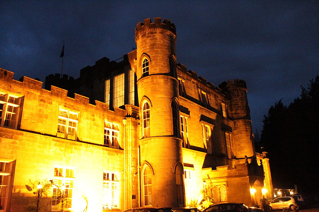 Melville Castle lighting at night