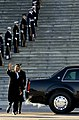 Members of a joint service honor guard line the steps of the U.S. Capitol as President Barack Obama departs after his inauguration ceremony 130121-F-AV193-419.jpg