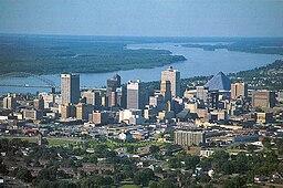 Memphis stadskärna.