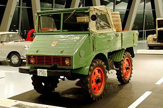Unimog a range off-road medium trucks produced by Daimler-Benz