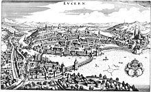 Lucerna nel 1642.
