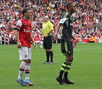 Steven Nzonzi - Nzonzi playing for Stoke City against Arsenal in 2013.