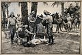 Metemma, Sudan; soldiers treating a trooper with severe suns Wellcome V0015330.jpg
