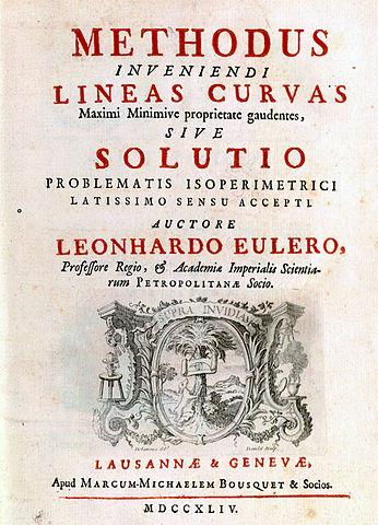 Первая книга по вариационному исчислению