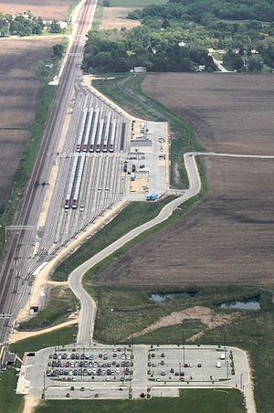 Elburn station - Image: Metra's Elburn Yard
