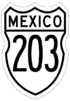 Federal Highway 203 shield