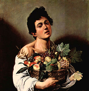 Mario Minniti - Minniti at age 16, serving as a model for Caravaggio's painting Boy with a Basket of Fruit.
