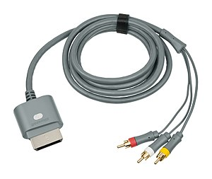 RCA connector - Composite video cable for the Xbox 360.