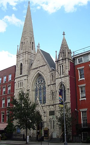 Collegiate Reformed Protestant Dutch Church - The New Middle Collegiate Church, on Second Avenue in the East Village