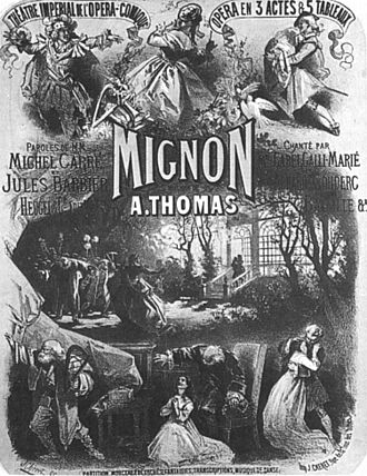 Mignon - Poster for the premiere, by Jules Chéret
