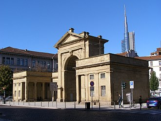 Porta Nuova (Milan) - The business district is named after a Neoclassical gate built in 1810.