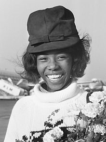 Small arriving at Schiphol Airport from Jamaica in 1964