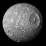 Mimas, a natural satellite of Saturn