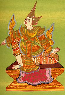 Alaungsithu King of Pagan Dynasty of Burma (Myanmar) from 1112/1113 to 1168
