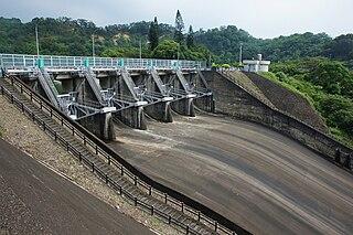Mingde Dam dam in Touwu, Miaoli County, Taiwan