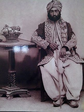 Mullazai tribe -  Mir Muhammad Murad Mullazai, a picture from 1891 of a Prime Minister Of Riyasat-E-e Kalat, مير محمد مرادملازئی
