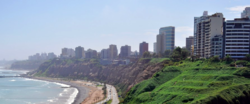 Miraflores is one of the wealthiest residential districts in Lima.