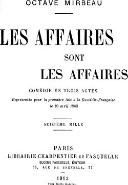 Image illustrative de l'article Les affaires sont les affaires