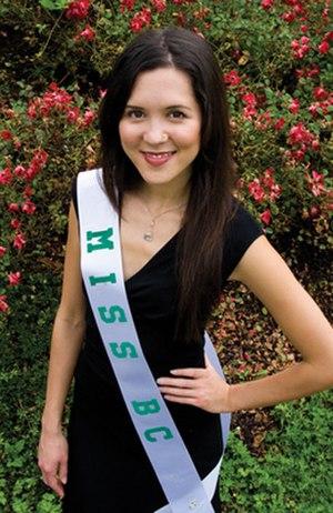 Tara Teng - Teng wearing her Miss BC World sash