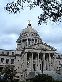 Edificio del Mississippi State Capitol, en Jackson.