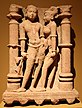 Mithuna (sexual union), northern India, Mathura, state of Uttar Pradesh, early 11th century, red sandstone, Honolulu Academy of Arts.jpg
