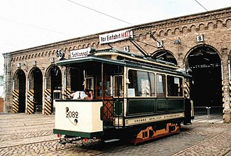 Trams in Berlin - Electric car of the GBS, built in 1901