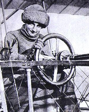 Raymonde de Laroche - Raymonde de Laroche in her Voisin aeroplane in 1909